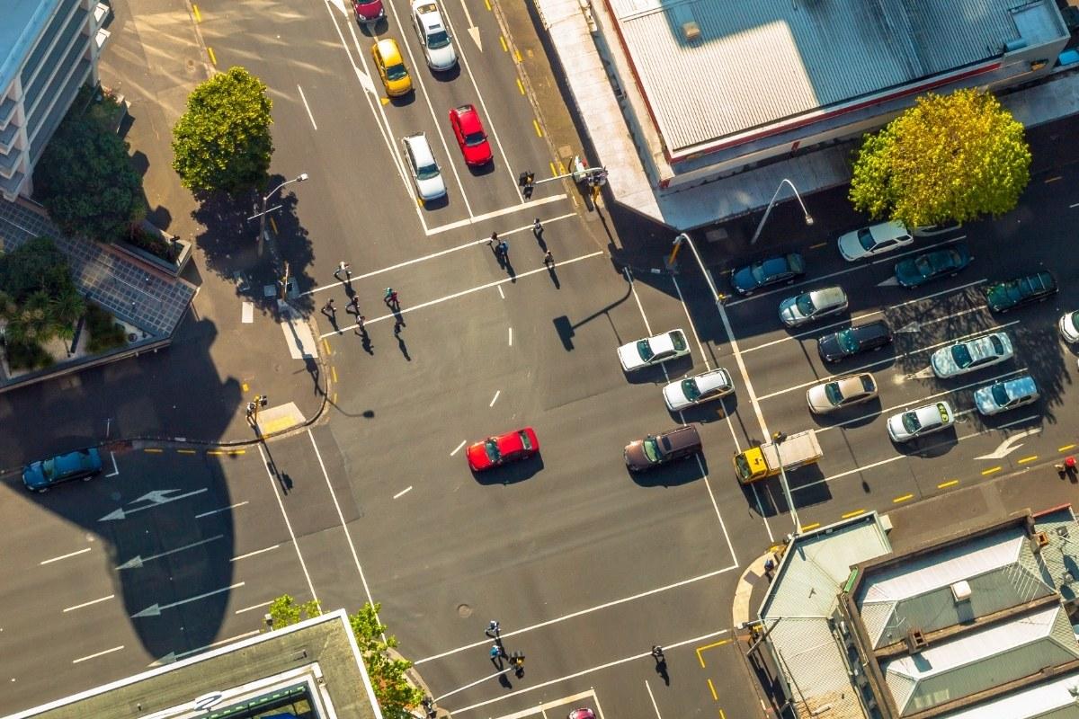 Auckland City Crossroads Aerial