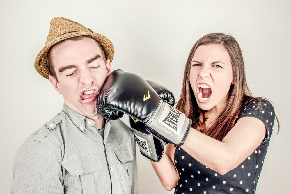 boxing couple