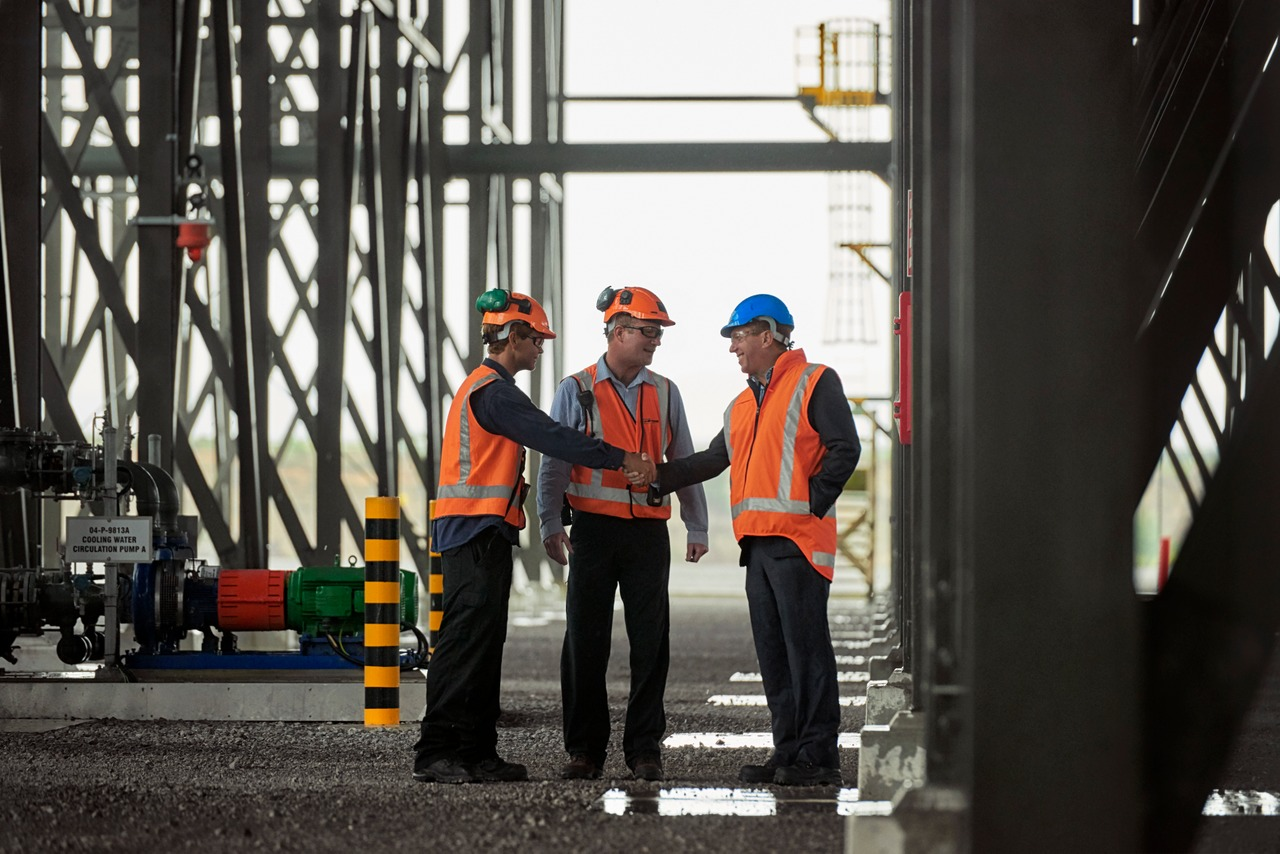 Managers On Construction Site